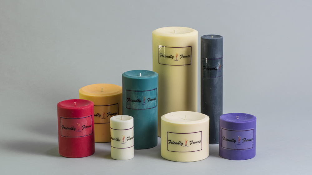 Soy Pillar Candles Friendly Fumes